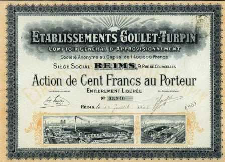 ACTION GOULET-TURPIN 1918